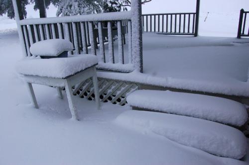 Our back porch