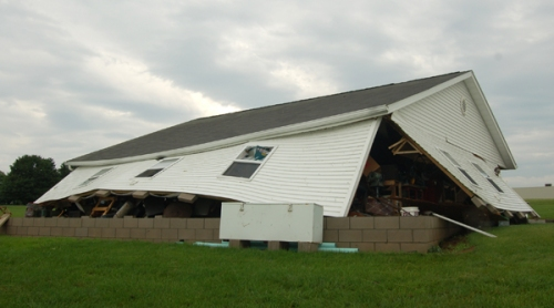 damaged garage