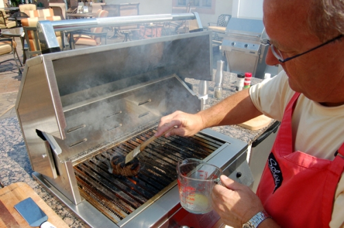 Roy Weaver grilling
