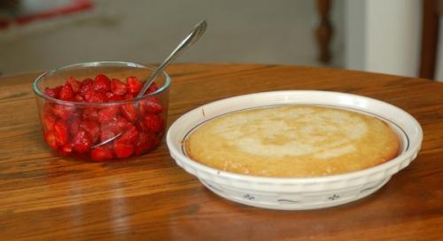 strawberries and shortcake