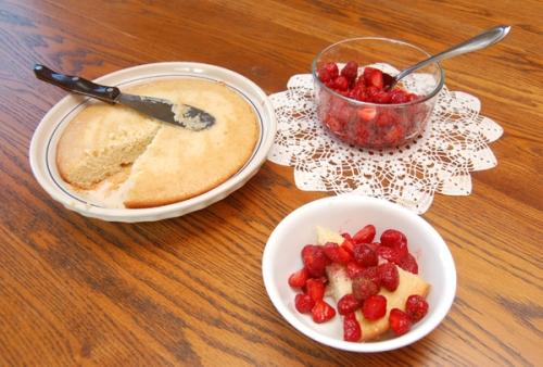 Strawberry Shortcake ready to eat