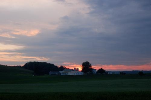 Summer solstice sunset by Bruce Stambaugh
