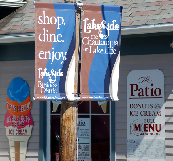 The Patio Restaurant at Lakeside OH by Bruce Stambaugh