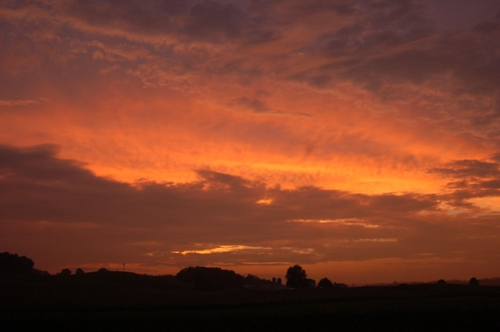August sunset by Bruce Stambaugh