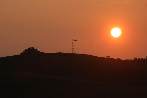 Golden sunset by Bruce Stambaugh
