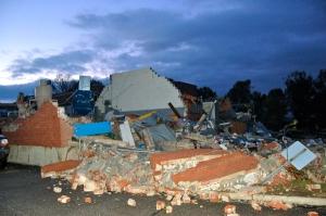 damaged OARDC building by Bruce Stambaugh