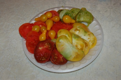 Sliced heirloom tomatoes by Bruce Stambaugh