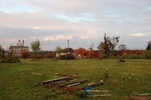 Machine shop destroyed by Bruce Stambaugh