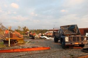 More damage around the machine shop by Bruce Stambaugh