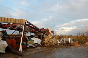 Another destroyed building at the OARDC by Bruce Stambaugh