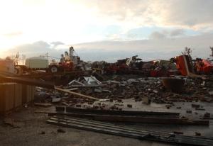 Destroyed machine shop by Bruce Stambaugh