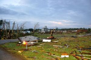 Debris littered the OARDC campus by Bruce Stambaugh