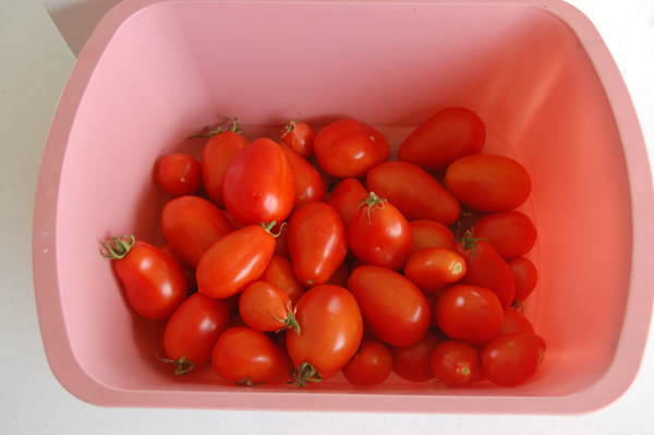 Roma tomatoes by Bruce Stambaugh