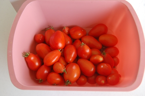 Roma tomatoes by Bruce Stambaugh