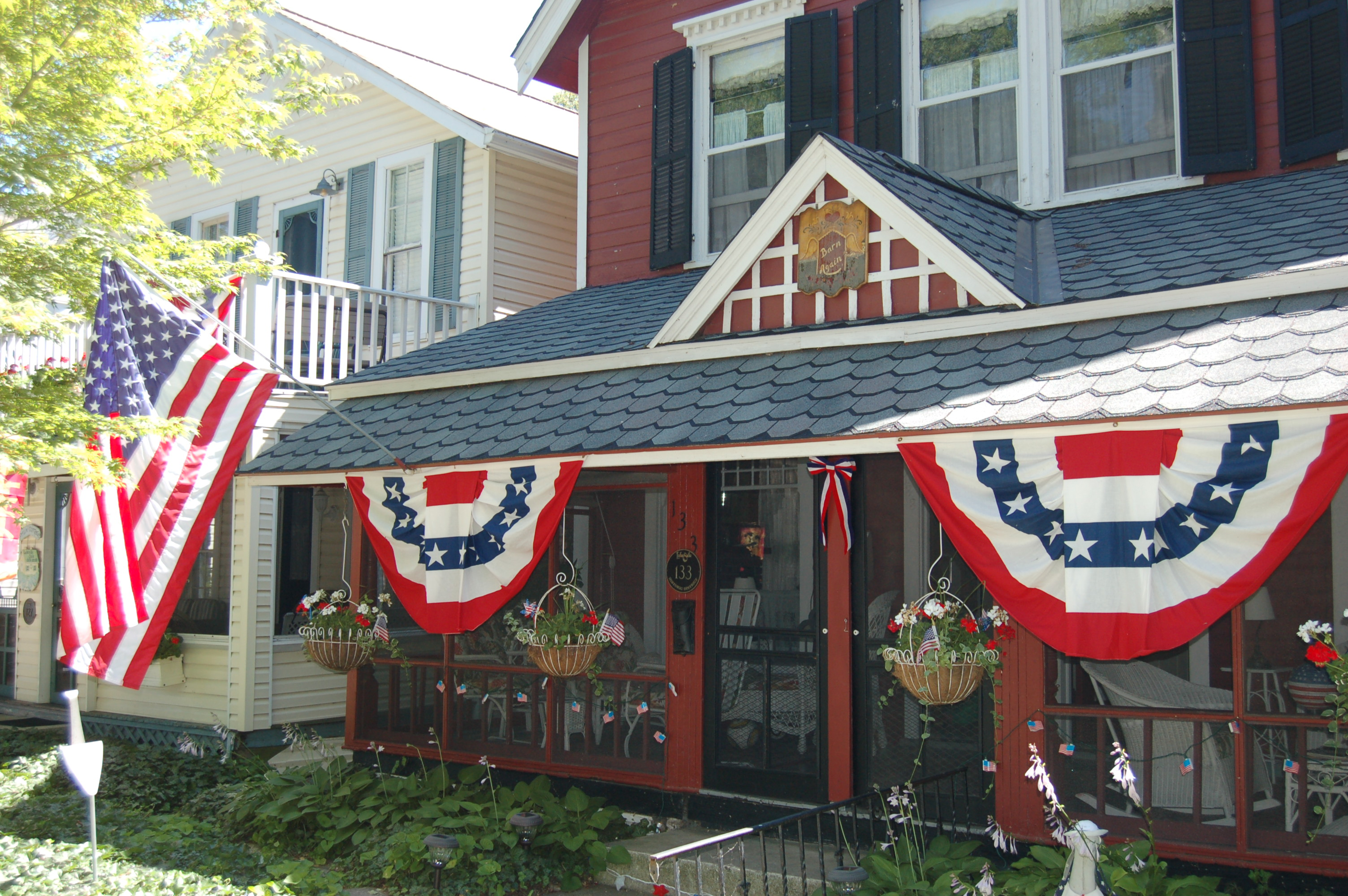Decorated cottage at Lakeside, Ohio by Bruce Stambaugh