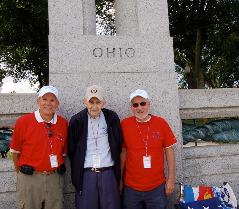 Stambaughs at the WW II Memorial by Bruce Stambaugh