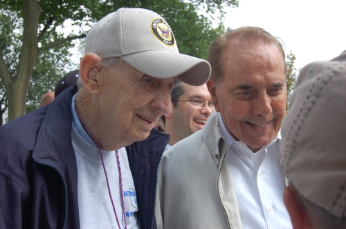 Dick Stambaugh and Bob Dole by Bruce Stambaugh