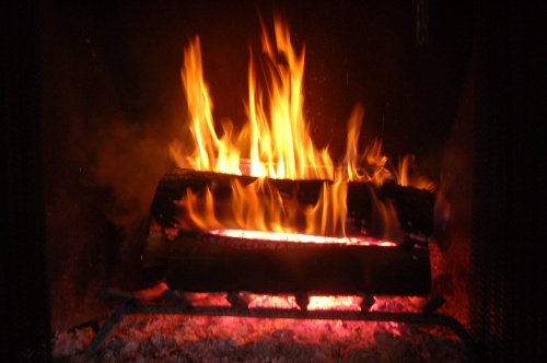 Roaring fire by Bruce Stambaugh
