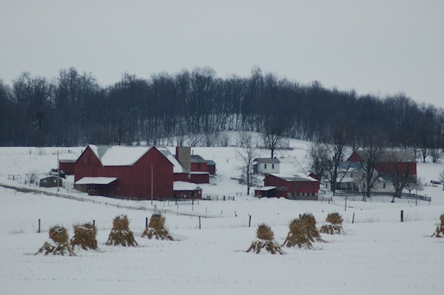 Snowfall in Ohio's Amish country by Bruce Stambaugh