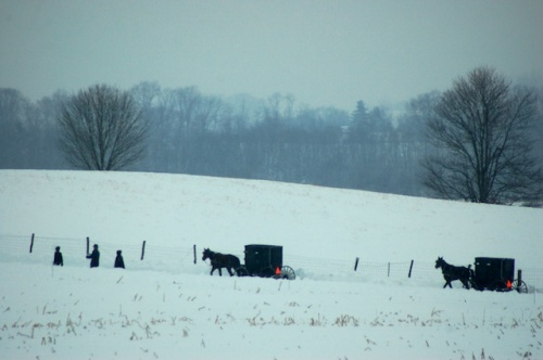 Amish church by Bruce Stambaugh