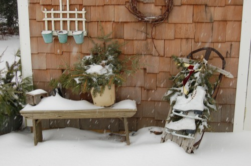 Snowy decorations by Bruce Stambaugh