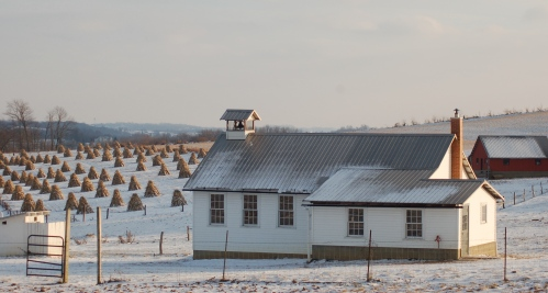 Amish school by Bruce Stambaugh
