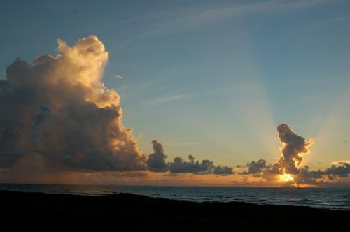 Gulf storm clouds by Bruce Stambaugh