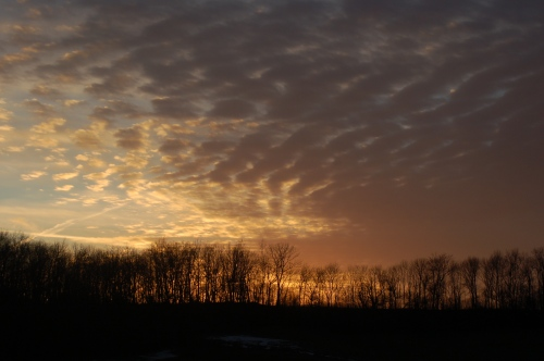 Mackerel clouds at sunset by Bruce Stambaugh
