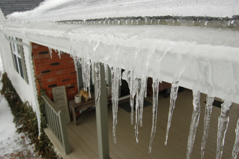 Icy gutters by Bruce Stambaugh