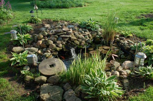 Garden pond by Bruce Stambaugh