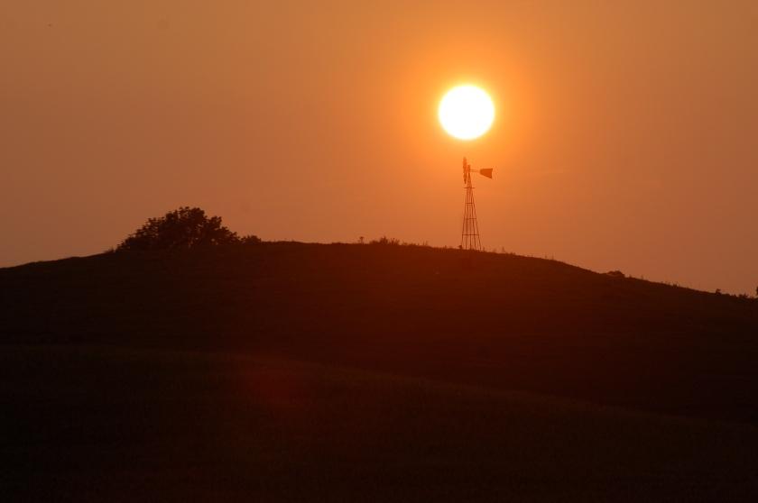 Hazy sunset by Bruce Stambaugh