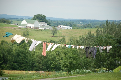 Amish clothesline by Bruce Stambaugh
