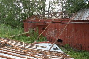 Barn destroyed by Bruce Stambaugh