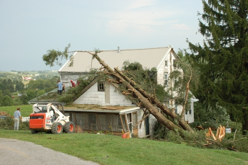 House damage by Bruce Stambaugh