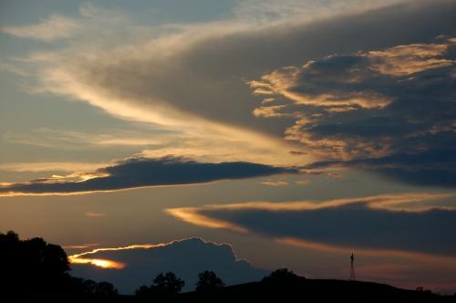 Fall sunset by Bruce Stambaugh