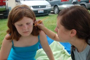 Face painting by Bruce Stambaugh