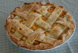 Peach pie by Bruce Stambaugh