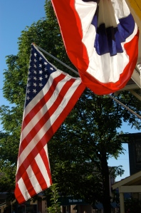 Flag and bunting by Bruce Stambaugh