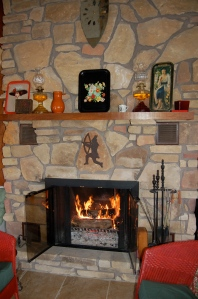 Cottage fireplace by Bruce Stambaugh