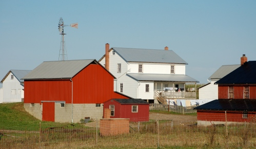 Amish farm by Bruce Stambaugh