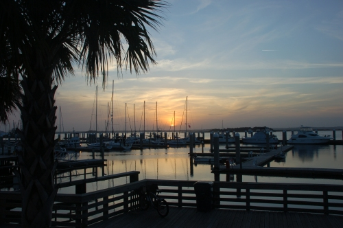 Harbor sunset by Bruce Stambaugh