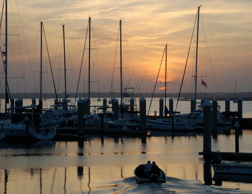 Leaving the harbor by Bruce Stambaugh