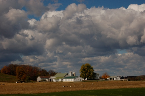 Puffy clouds by Bruce Stambaugh