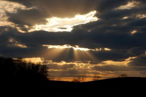 Sunset rays by Bruce Stambaugh