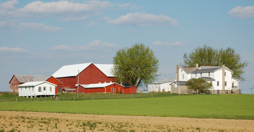 Amish farm by Bruce Stambaugh