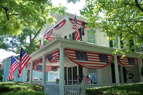 Fourth of July decorations by Bruce Stambaugh