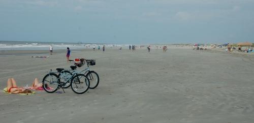 Empty beach by Bruce Stambaugh