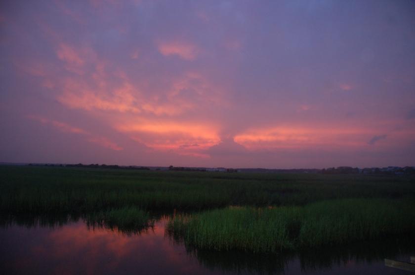 Marsh sunset by Bruce Stambaugh