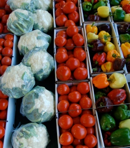 Fresh veggies by Bruce Stambaugh