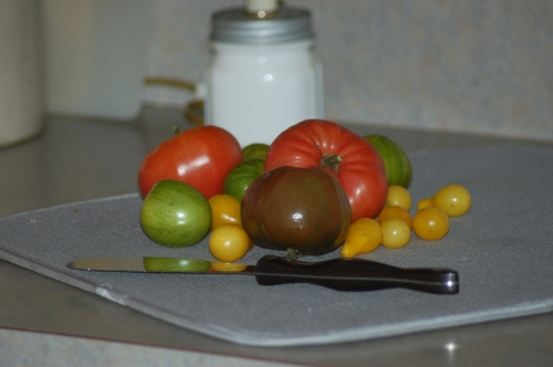 Heirloom tomatoes by Bruce Stambaugh